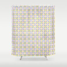 Portugal Pattern RGB Shower Curtain