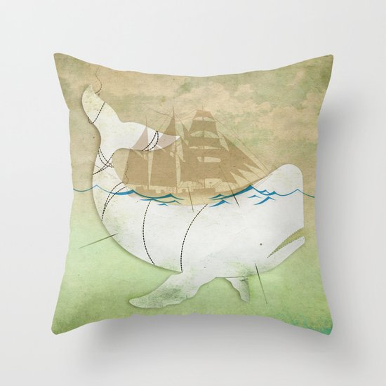 The ghost of Captain Ahab  Throw Pillow