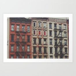 New York Apartments Art Print