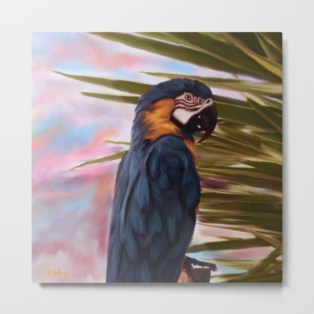 Mccaw Parrot Metal Print by Christinaart MTP8001660