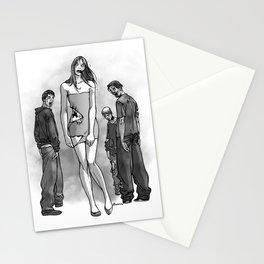 Zombie Girl Stationery Cards