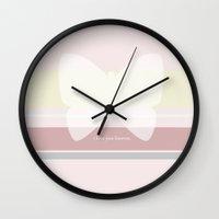 nursery Wall Clocks featuring Nursery Butterfly by SpekleDesign