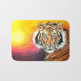 Awaiting the Darkness of Night (Male Tiger) Bath Mat
