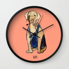 Farmer Dog Wall Clock