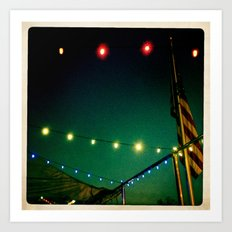 Starry Lights Art Print