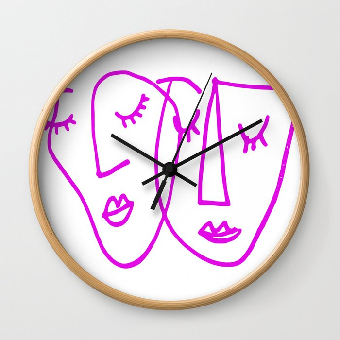 Lovely Faces Wall Clock