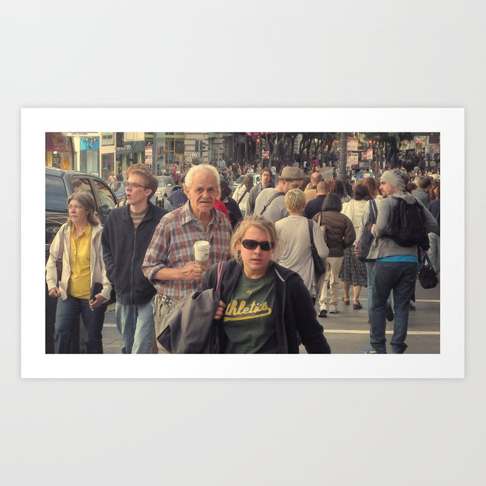 On the Streets of San Francisco #1 Art Print