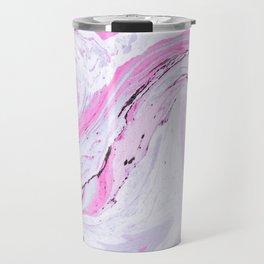 Watercolor effect marble Travel Mug