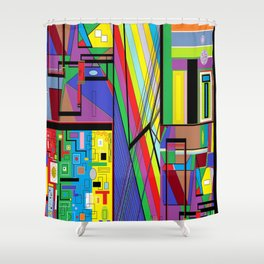 Geometry Abstract Shower Curtain
