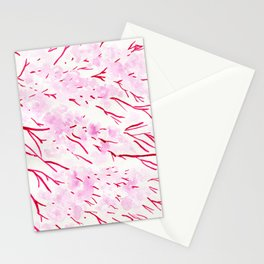 Pink and red blossom Stationery Cards