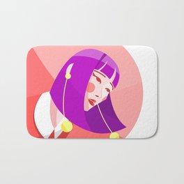 Purple woman Bath Mat