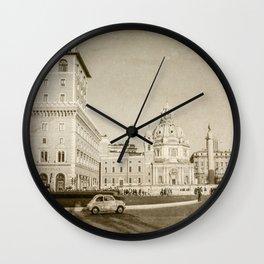 Eternal City (Plaza Venezia) Wall Clock