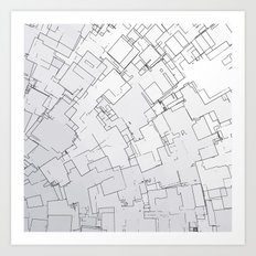 Plan abstract Art Print