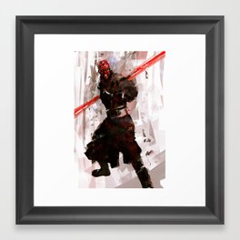 Darth Maul Brushwork by iartbilly Framed Art Print