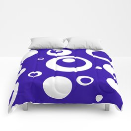 Circles Dots Bubbles :: Blueberry Comforters