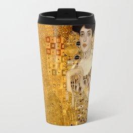 Woman in Gold Portrait by Gustav Klimt Travel Mug