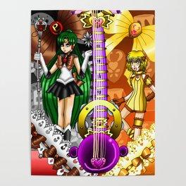 Sailor Mew Guitar #67 - Sailor Pluto & Mew Pudding Poster