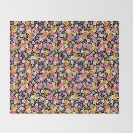 Floral Haze Throw Blanket