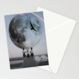 The moon will rise Stationery Cards