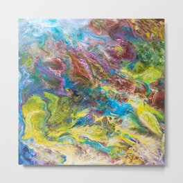 Calipso - Modern Abstract Metal Print