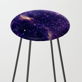 Ultra violet purple abstract galaxy Counter Stool