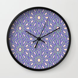 Arabic Tiling Wall Clock