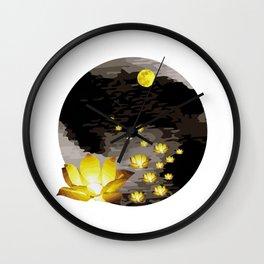 Vietnam Flower Lanterns Hoai River Hoi An ancient town Wall Clock