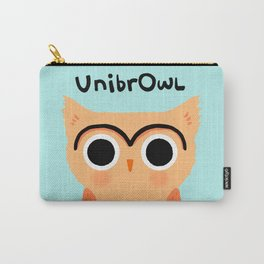 UnibrOwl | Funny Unibrow Eyebrows Owl Illustration Carry-All Pouch
