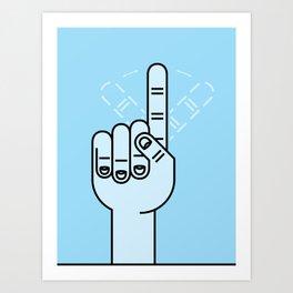 Finger Wag Art Print