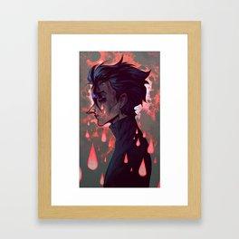 Redrum Drops Framed Art Print