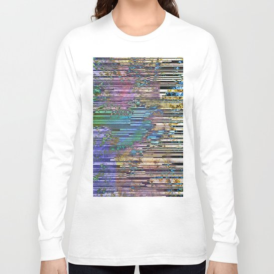 tree barcode stripes Long Sleeve T-shirt