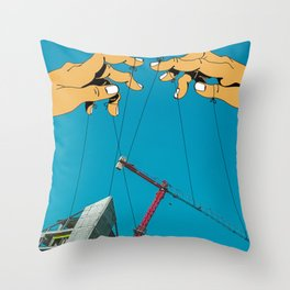 Construction With Strings Attached Throw Pillow