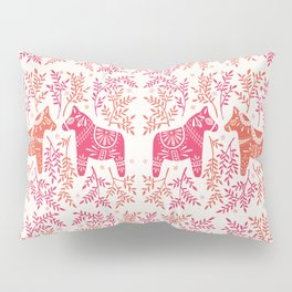 Swedish Dala Horses – Melon Palette Pillow Sham