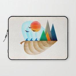 074 - Autumn leaf minimal landscape II Laptop Sleeve