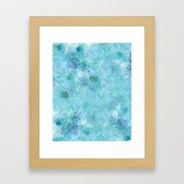 Blue Galaxy Framed Art Print
