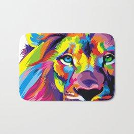 Colored Lion Bath Mat