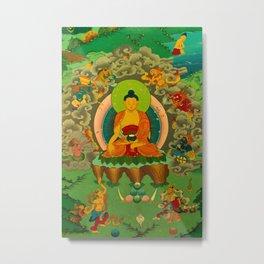 Buddha painting, Kathmandu, Nepal Metal Print