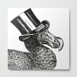 Mr Dodo | Black & White Metal Print