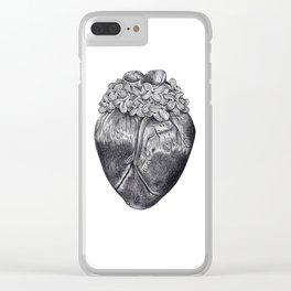 Lilac Heart Clear iPhone Case