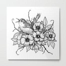 Wren bouquet Metal Print