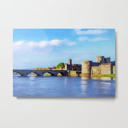 King Johns Castle and Thomond Bridge Metal Print