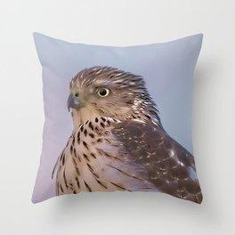 Watercolor Falcon Throw Pillow