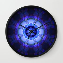 Crystal Refraction - Blue Wall Clock