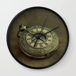Golden pocket watch Wall Clock