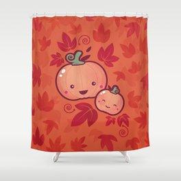 Fall Frolic (in orange) Shower Curtain