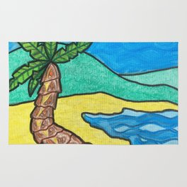 Tropical Beach Rug