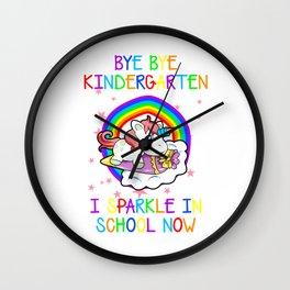Bye Bye Kindergarten School Preschool primary Nursery enrolment Wall Clock