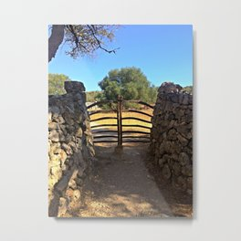 Traditional Menorcan Gate Metal Print