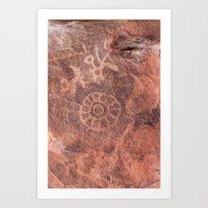 Petroglyphs Art Print