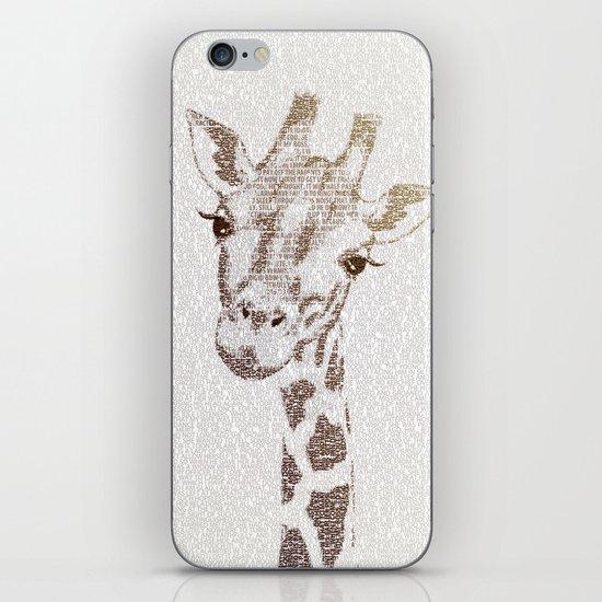 The Intellectual Giraffe iPhone & iPod Skin